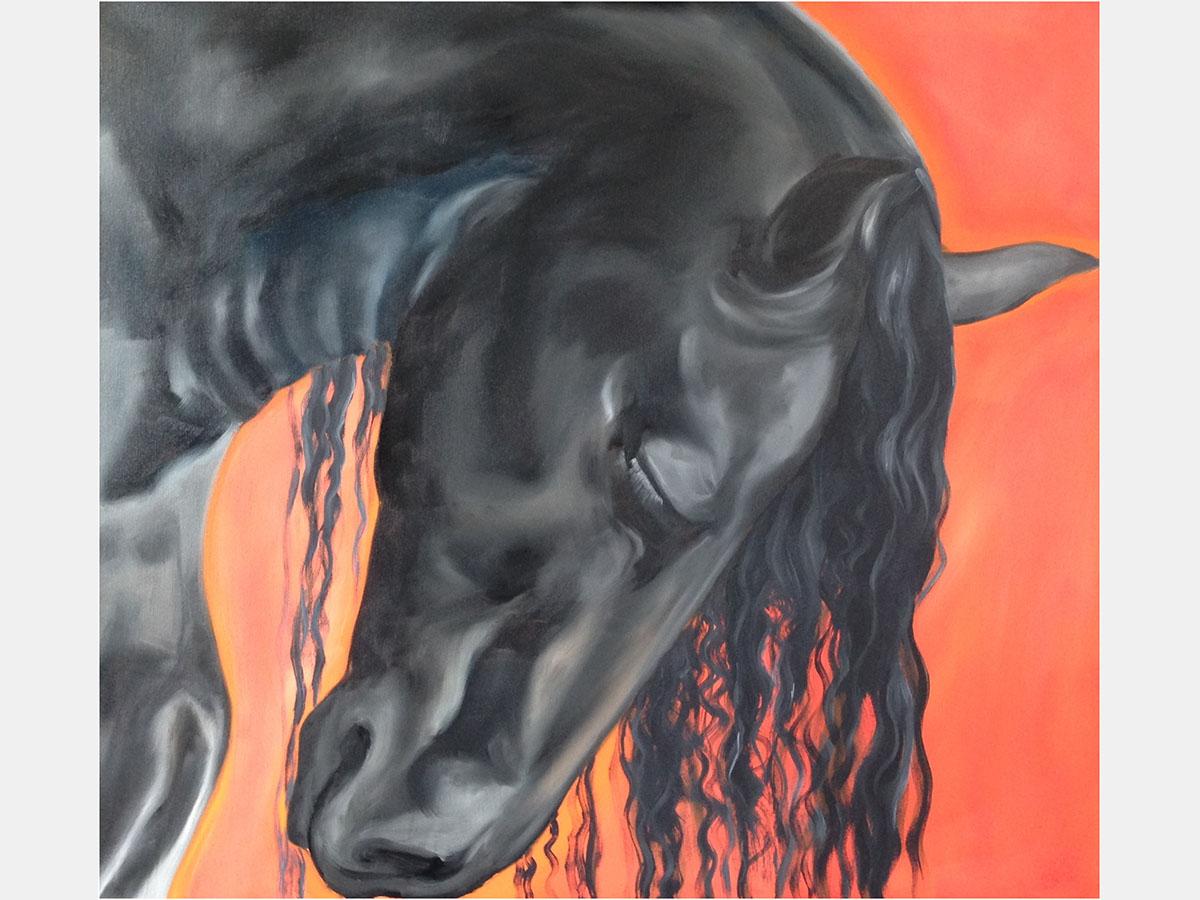 Manuela_Mollwitz_Painting_Black_Stallion_1