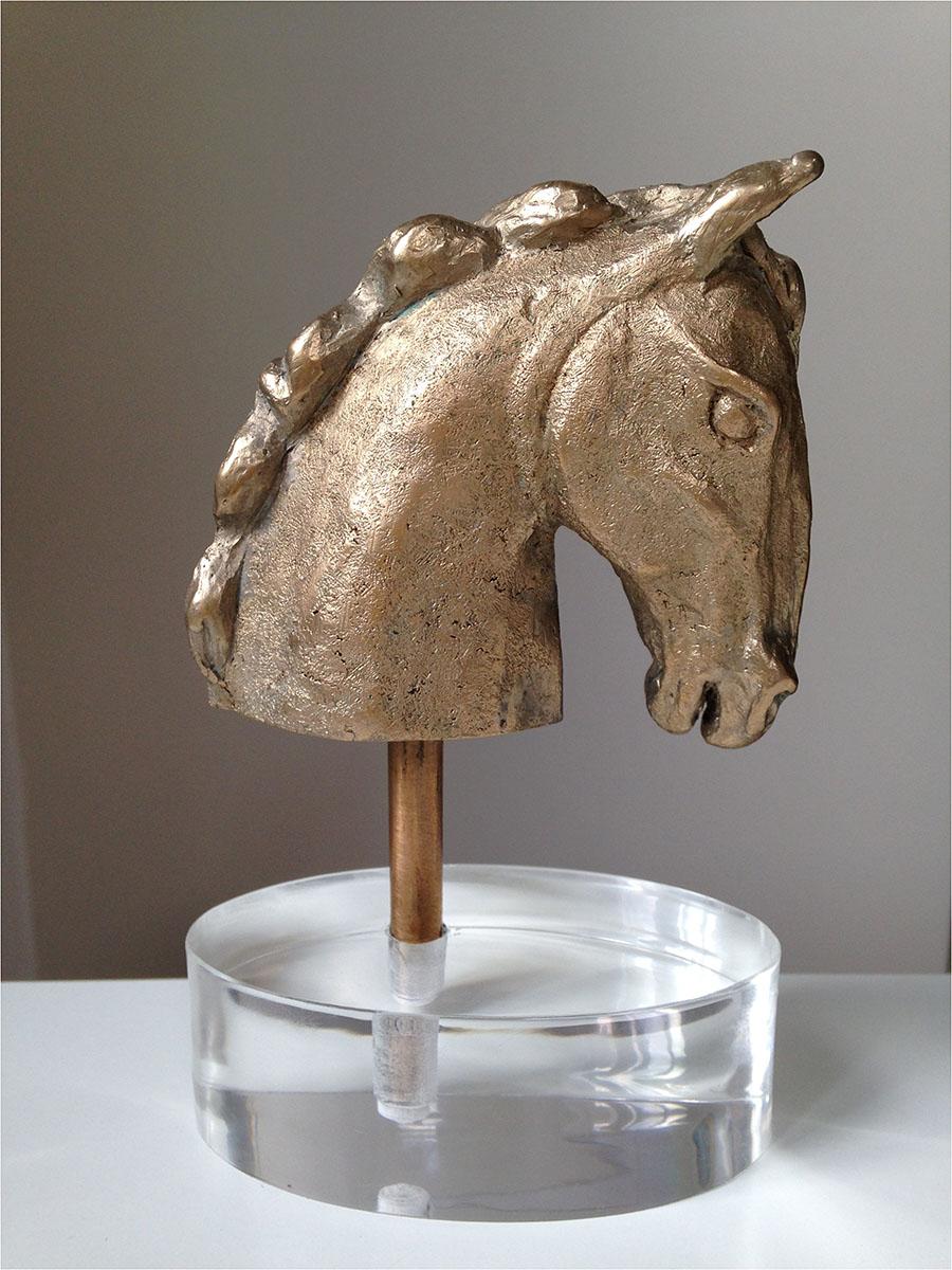 Manuela_Mollwitz_Sculpture_Generale_Custer_Horse_Head_Bronze_01