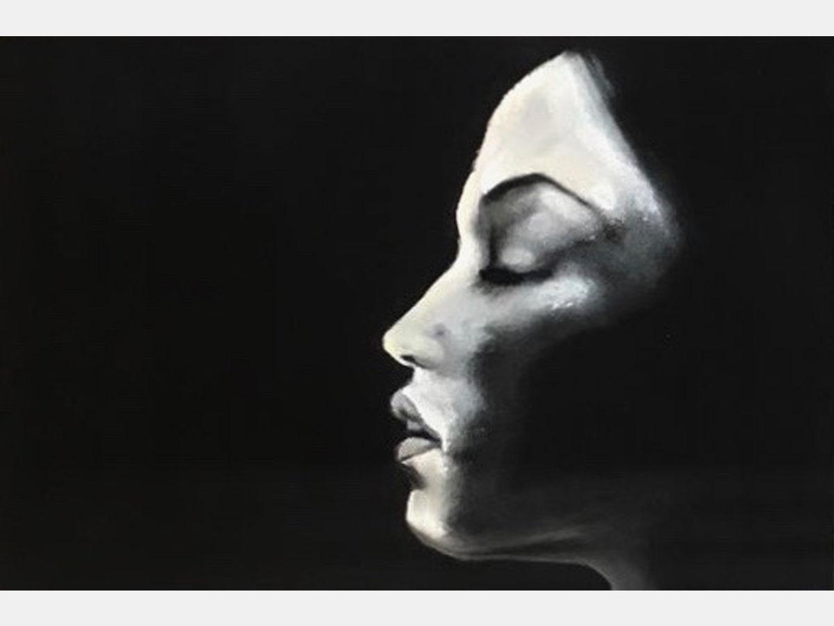 Manuela Mollwitz Painting: Outside the Darkness 1/3