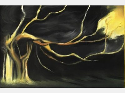 Manuela Mollwitz Painting: Outside the Darkness 2/3