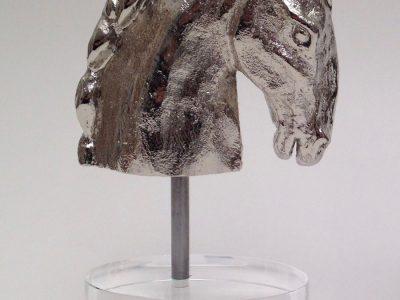Manuela_Mollwitz_Sculpture_Horse_Head_Generale_Custer_Silver_01